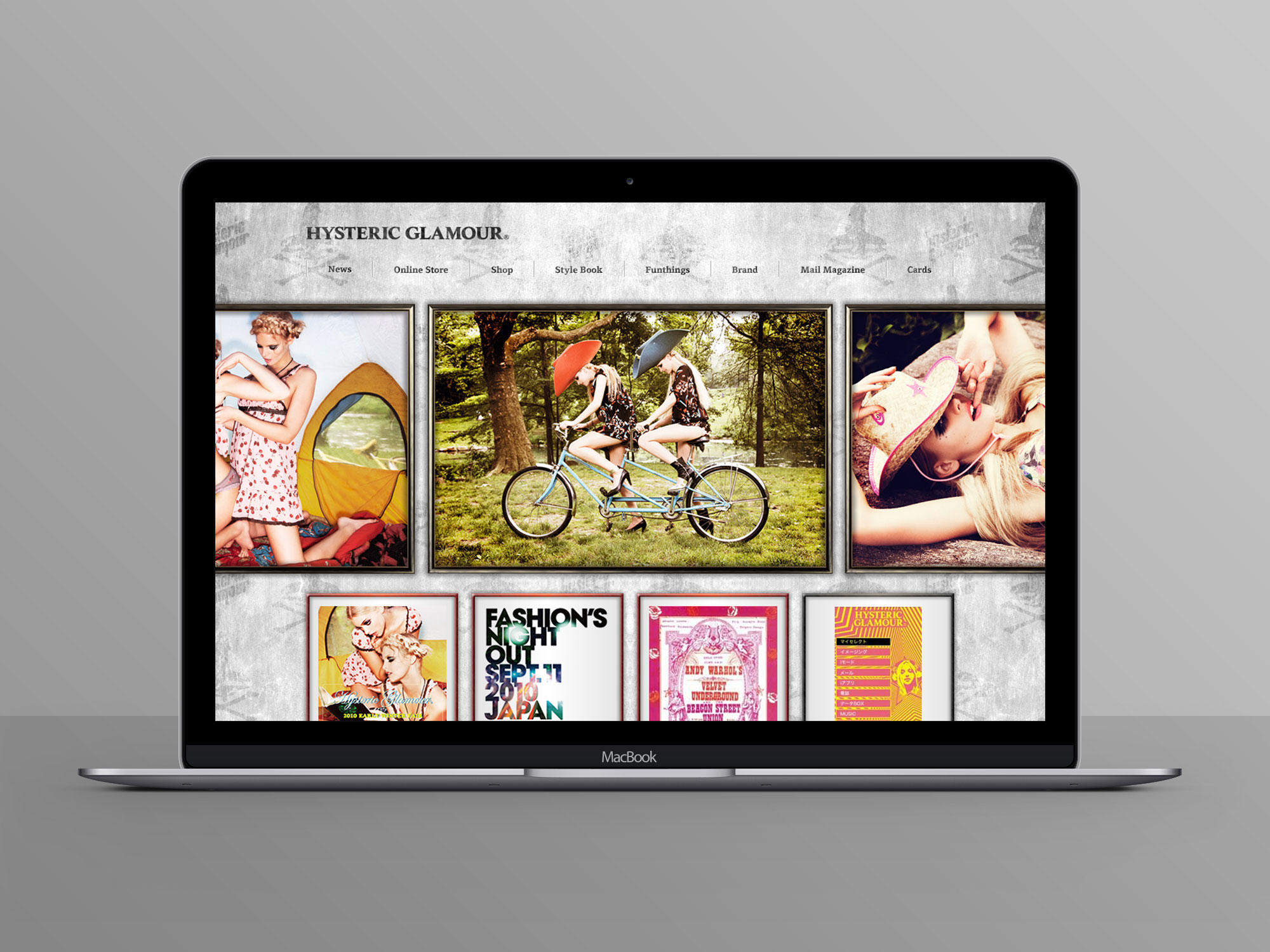 HYSTERIC GLAMOUR Official Site Design